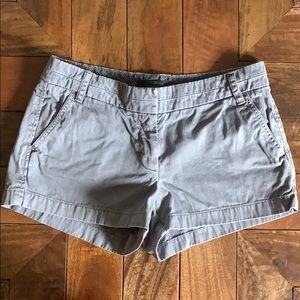 J. Crew grey chino shorts